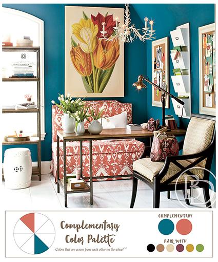 الألوان المتممة والألوان المتباينه في الديكور - colors-in-decoration