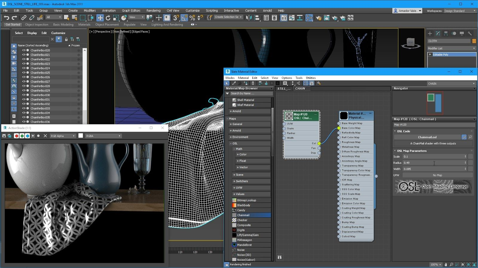3ds Max 2019 OSL Map and Open Shading -الجديد في أتوديسك ماكس 2019 - What's New in 3ds Max 2019