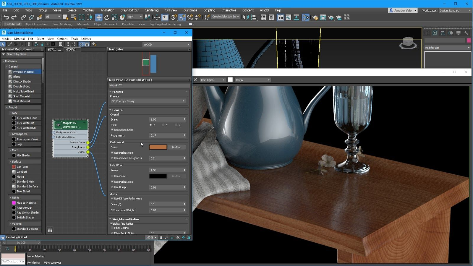 3ds Max 2019 Wood map - الجديد في أتوديسك ماكس 2019 - What's New in 3ds Max 2019