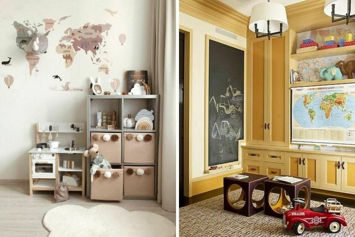 التصميم الداخلي لغرفة الأطفال - ورق حائط تفاعلي