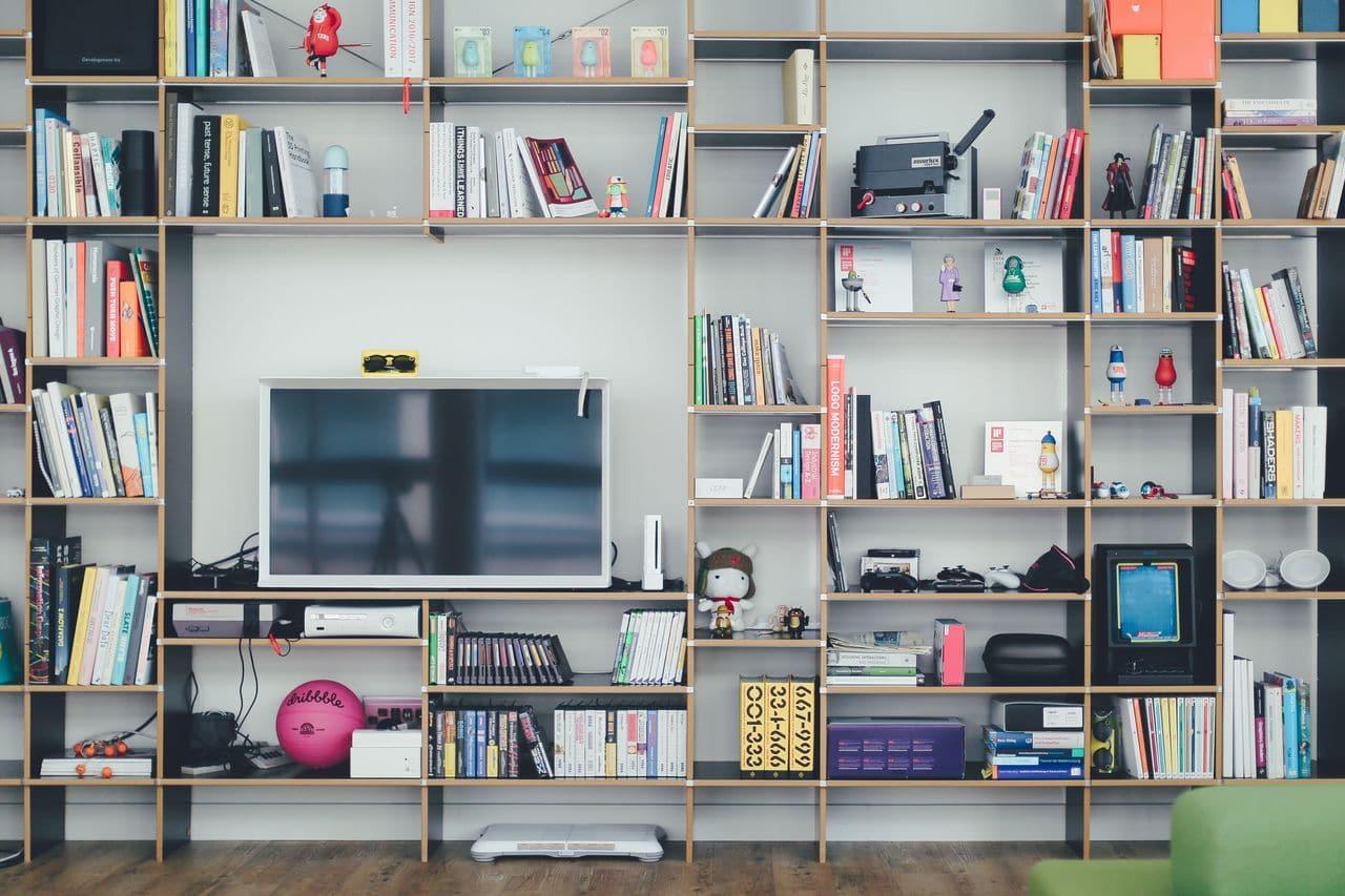 شكل المكتبة بالمنزل