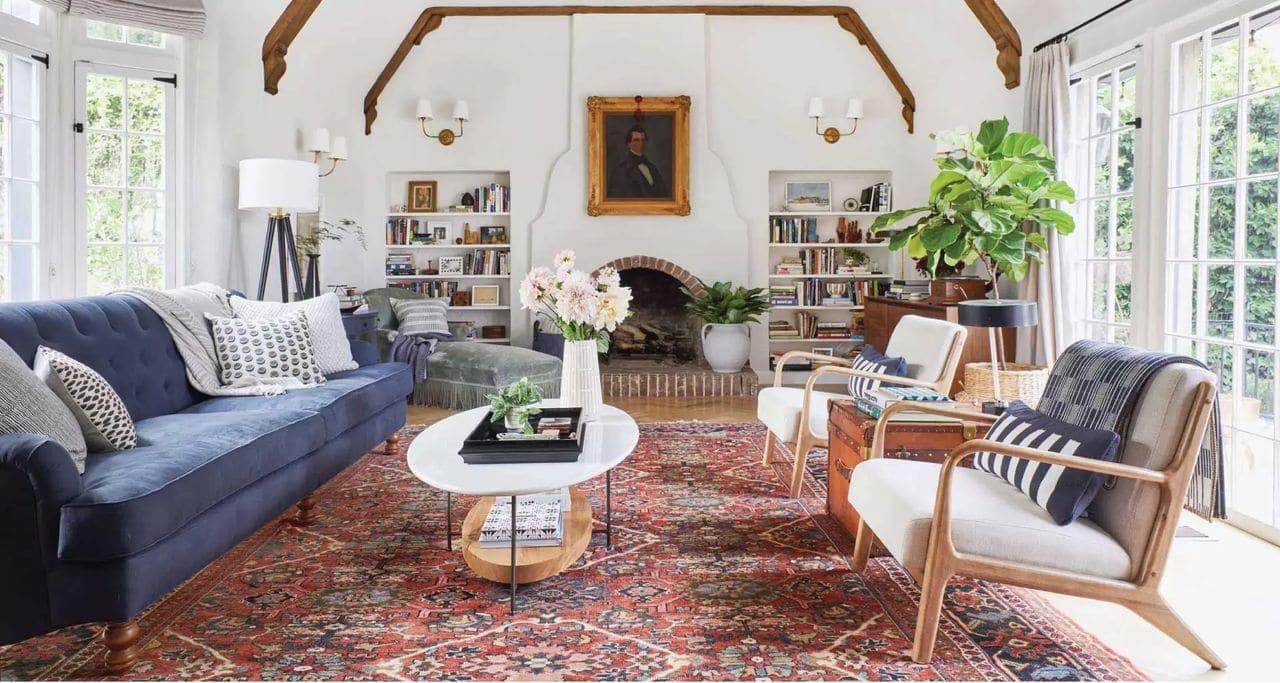 ديكور صالات الجلوس - الأريكة الدائرية (شجع المحادثات)