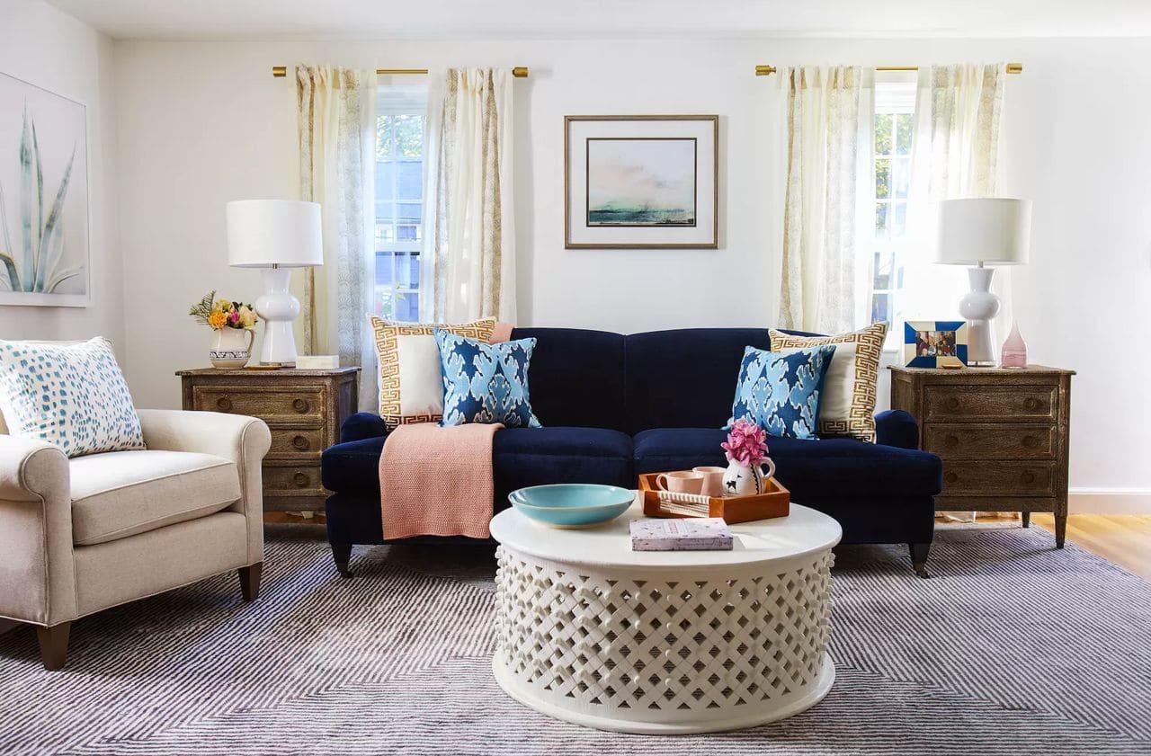 غرفة معيشة مبهجة - اجعلها مبهجة