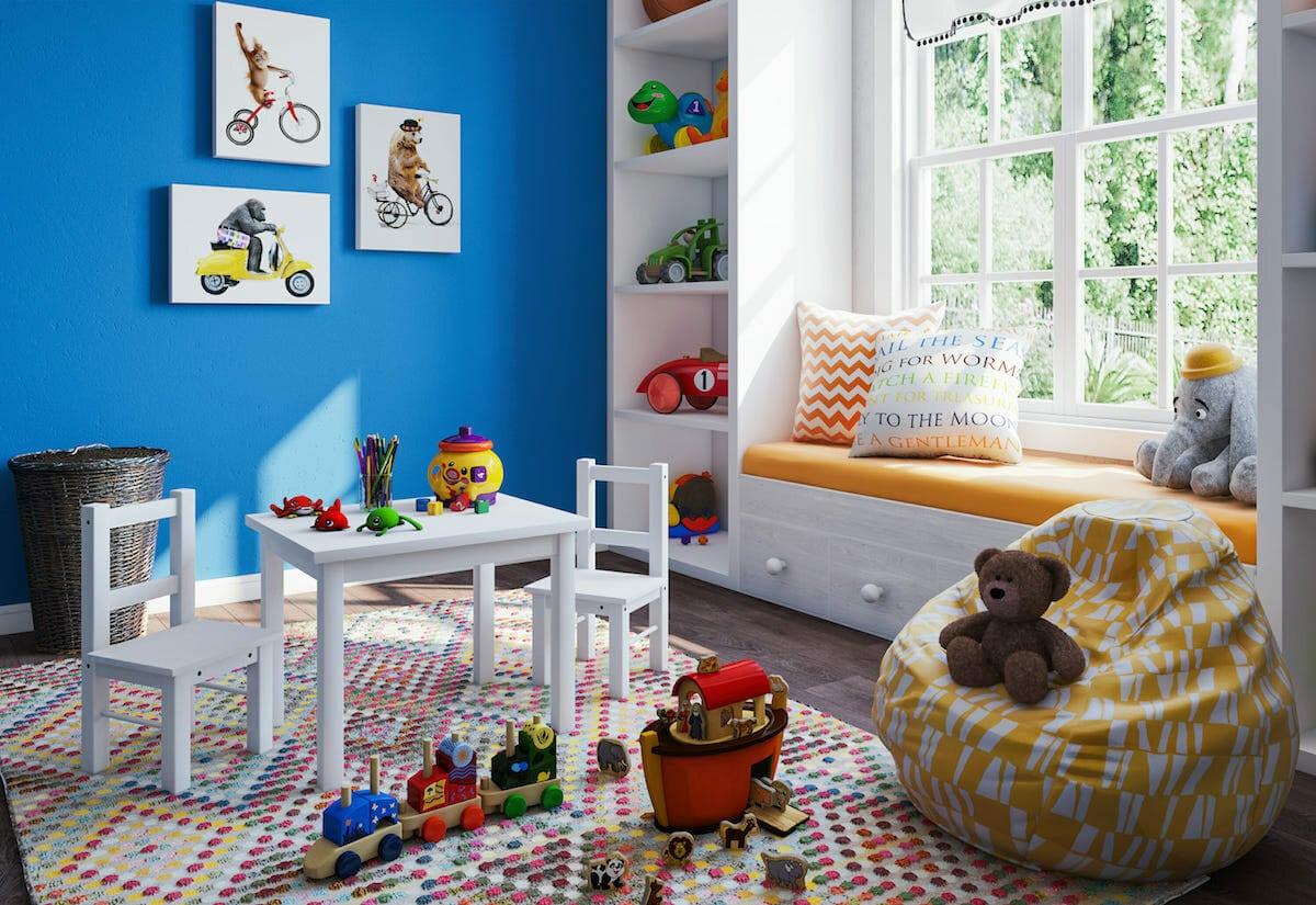 التصميم الداخلي لغرفة الأطفال