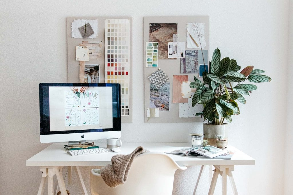 العمل في مجل التصميم الداخلي مساحة العمل