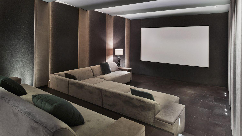 التصميم الداخلي للسينما المنزلية