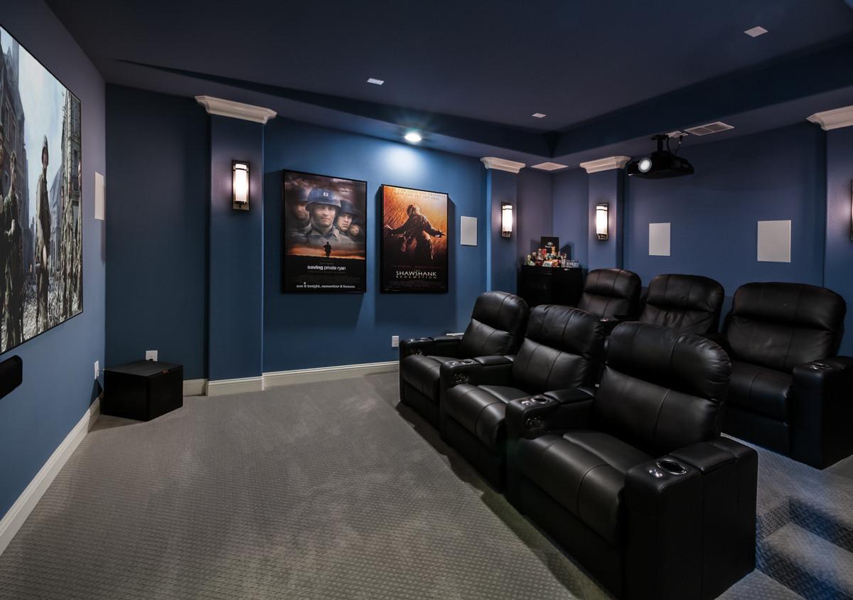 التصمميم الداخلي للسينما المنزلية